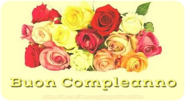 Buon Compleanno - Cartoline compleanno con rose