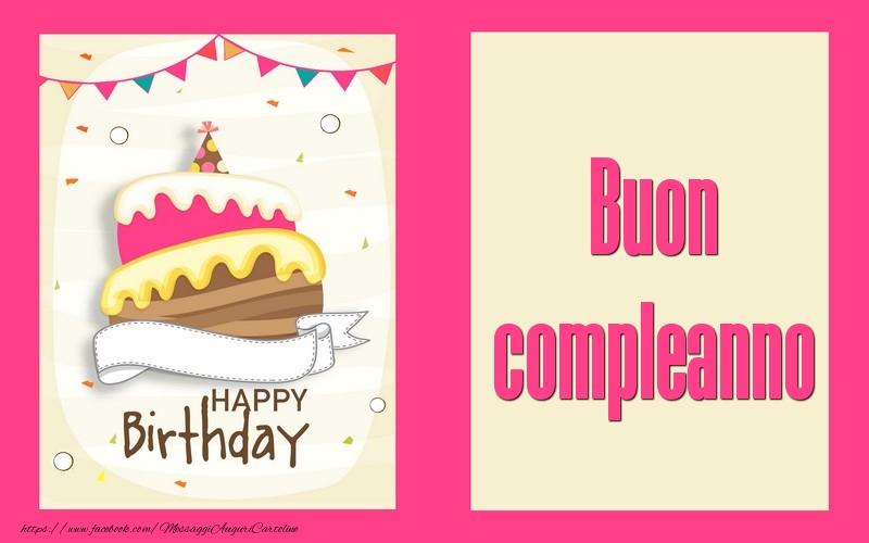 Buon compleanno - Cartoline compleanno con torta