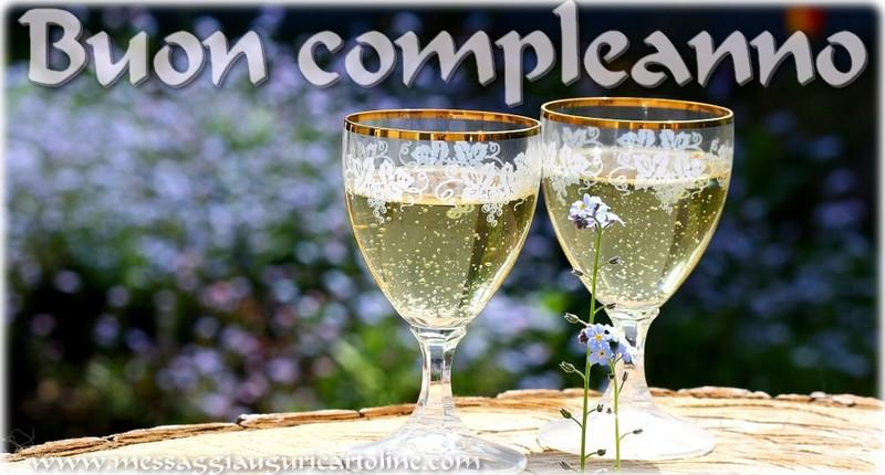 Buon compleanno! - Cartoline compleanno con champagne