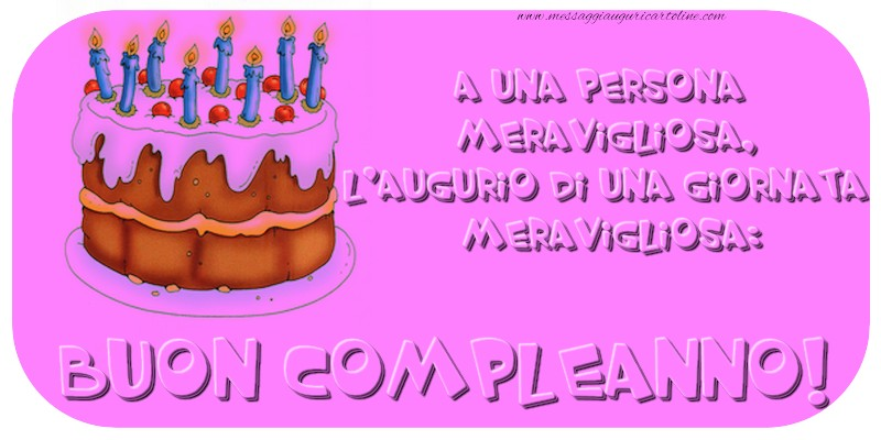 Buon Compleanno! - Cartoline compleanno con torta