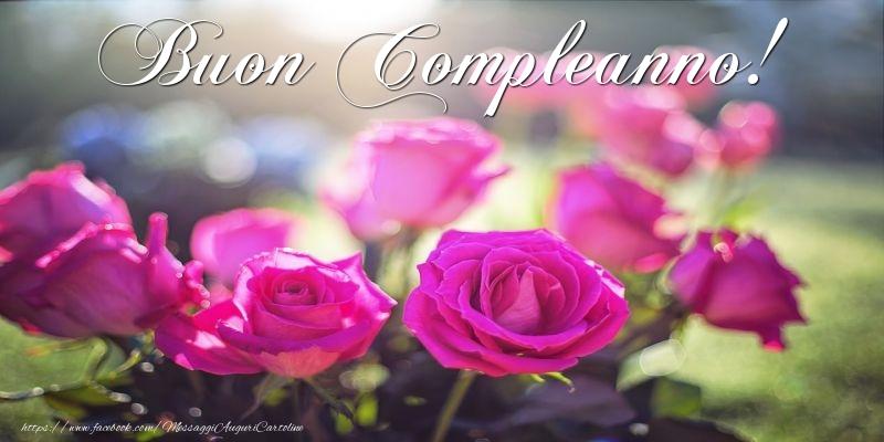 Buon Compleanno! - Cartoline compleanno con rose