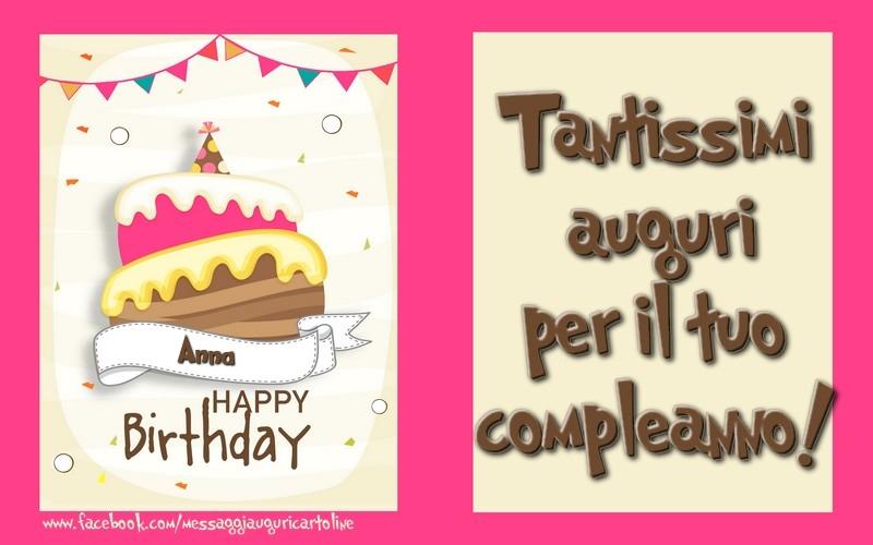 Tantissimi Auguri Per Il Tuo Compleanno Anna