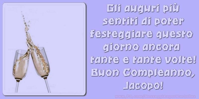 Buon compleanno Jacopo, - Cartoline compleanno