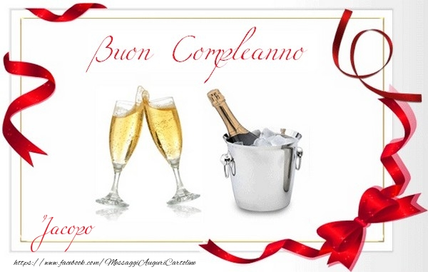 Buon Compleanno, Jacopo - Cartoline compleanno