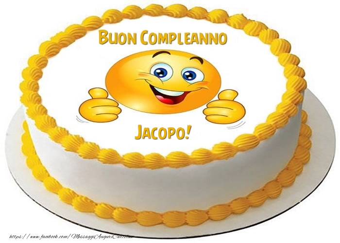 Torta Buon Compleanno Jacopo! - Cartoline compleanno con torta
