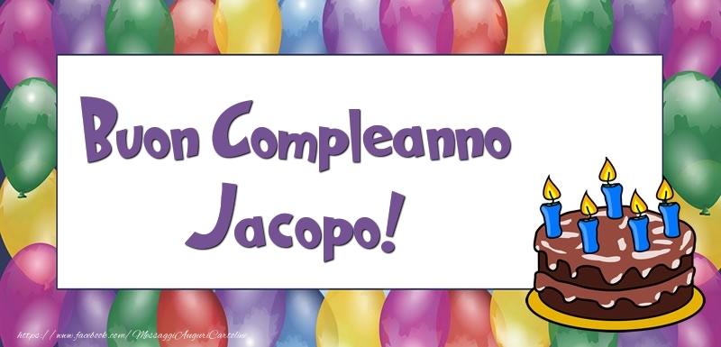 Buon Compleanno Jacopo - Cartoline compleanno