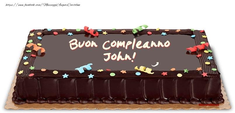 Torta di compleanno per John! - Cartoline compleanno con torta