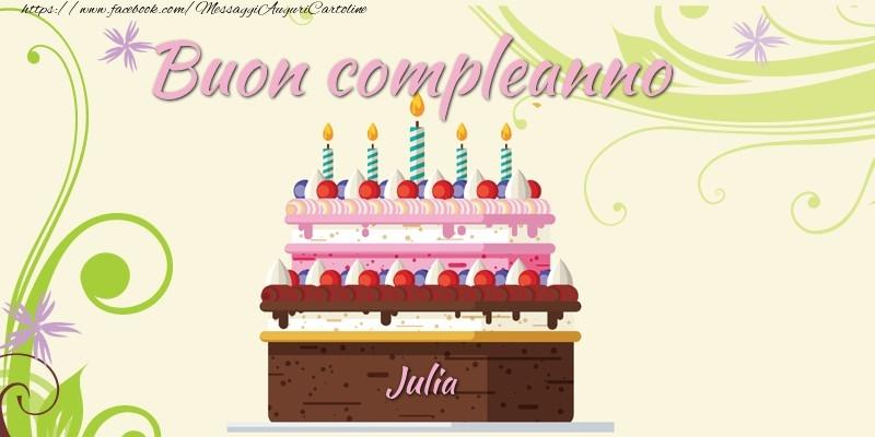 Buon compleanno, Julia! - Cartoline compleanno