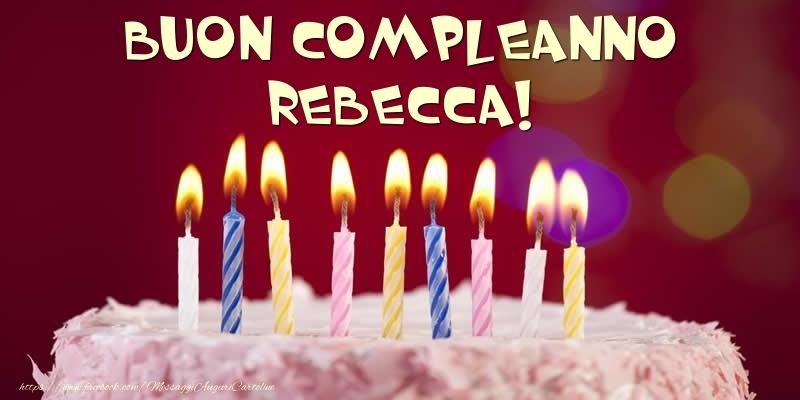 Torta Torta Buon Compleanno Rebecca