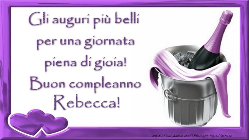 Cartoline Compleanno Con Nome Rebecca Pagina 8