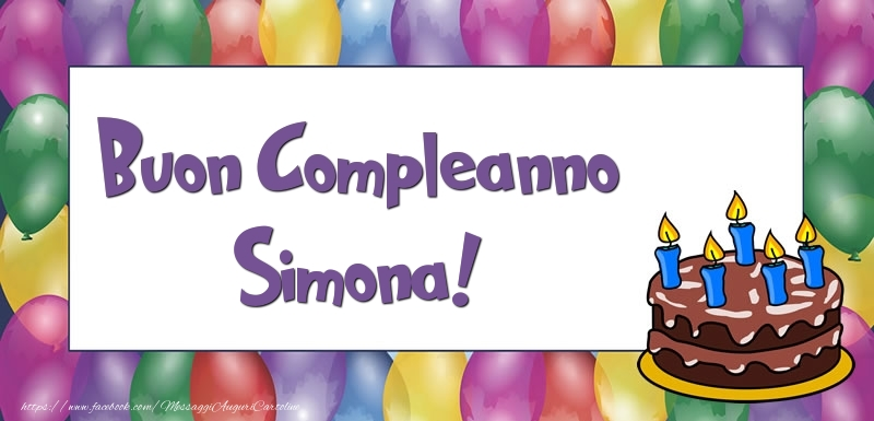 Cartoline Compleanno Con Nome Simona